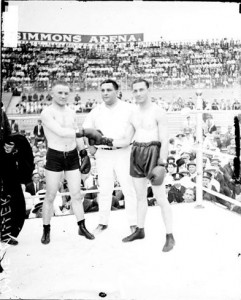 Ever Hammer and Benny Leonard Prefight Photo